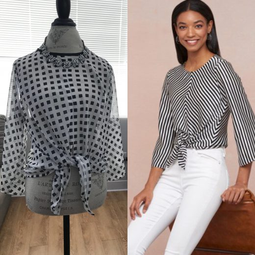 DIY Printed Chiffon Pull Over Top with Modifications